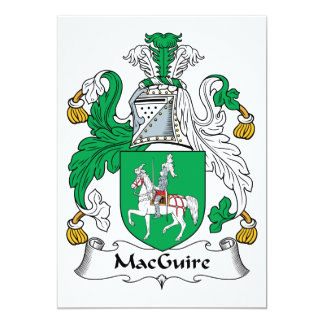 MacGuire Family Crest Card