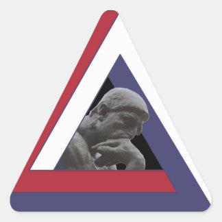 MacGyvers Co. los E.E.U.U. Pegatina Triangular