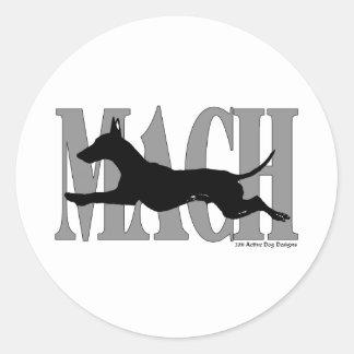 MACH Manchester Pegatina Redonda