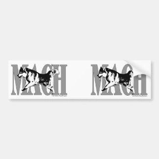 MACH Siberian Husky Car Bumper Sticker