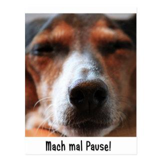 Mach times break postcard