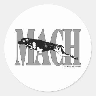 MACH Weimeraner Classic Round Sticker