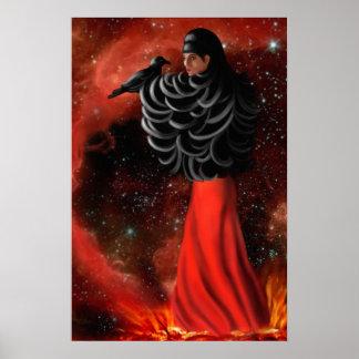 Macha, a legendary Irish Celtic Goddess Poster