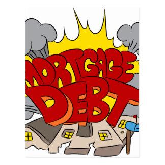 Machacamiento del dibujo animado de la deuda postal
