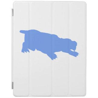 Machairodus Silhouette (Blue) iPad Cover