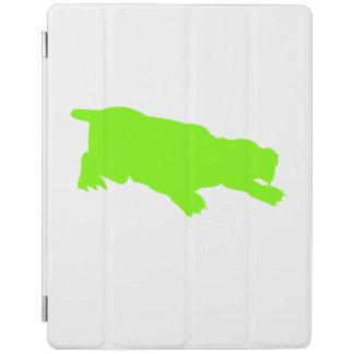 Machairodus Silhouette (Green) iPad Cover