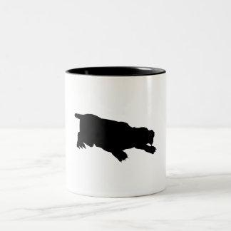 Machairodus Silhouette Mug