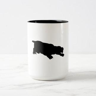 Machairodus Silhouette Coffee Mugs