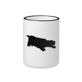 Machairodus Silhouette Mugs