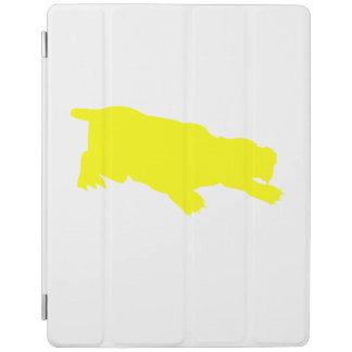 Machairodus Silhouette (Yellow) iPad Cover
