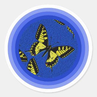 Machaon de Papilio Pegatina Redonda