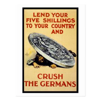 Machaque a los alemanes postales