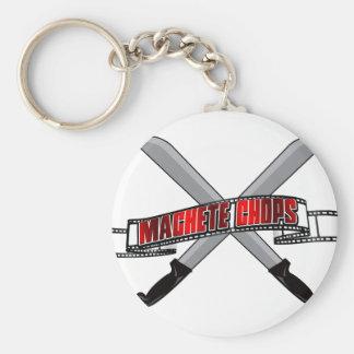 Machete Chops Logo Basic Round Button Keychain