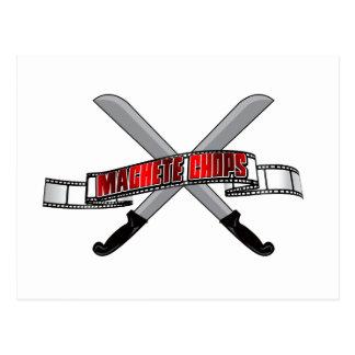 Machete Chops Logo Postcard