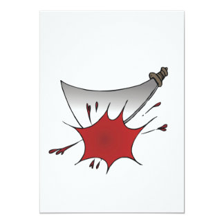 """Machete Massacre 5"""" X 7"""" Invitation Card"""