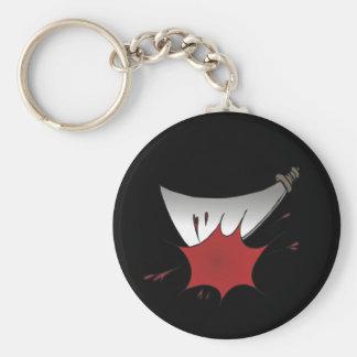 Machete Massacre Basic Round Button Keychain