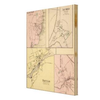Machias, Eastport, Alfred, Kennebunk Impresion De Lienzo
