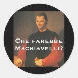 Machiavelli 4 classic round sticker