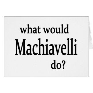 Machiavelli Greeting Card