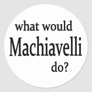 Machiavelli Classic Round Sticker