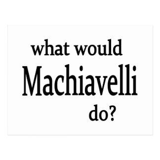 Machiavelli Postcard