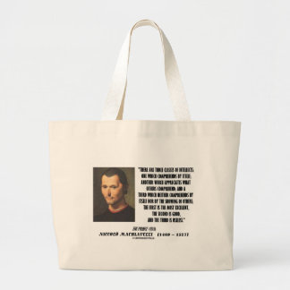 Machiavelli Three Classes Of Intellects Quote Jumbo Tote Bag