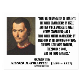 Machiavelli Three Classes Of Intellects Quote Postcard