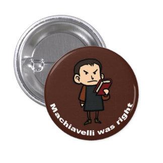 Machiavelli was Right Pinback Button