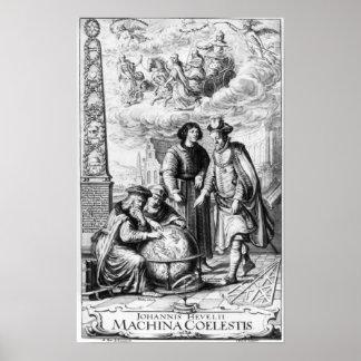 'Machina Coelestis' by Johannes Hevelius, Poster