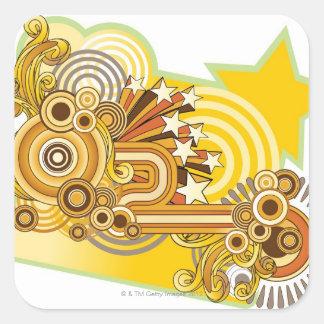Machine Design Square Sticker