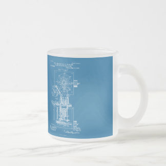 Machine for Pasting Shoes  - Maria Beasley, Invent Frosted Glass Coffee Mug