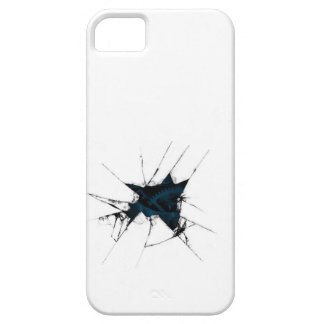 Machine Gears Inside White Broken iPhone SE/5/5s Case