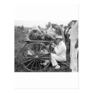 Machine Gun, 1917 Postcard