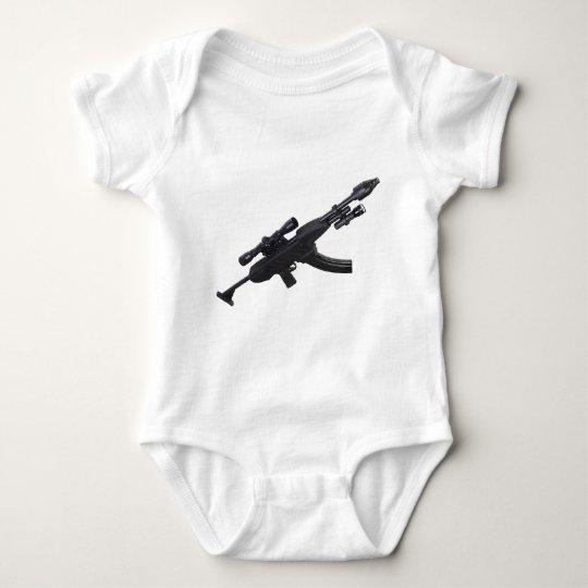 Machine gun baby bodysuit