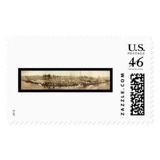 Machine Gun Battalion Photo 1918 Stamp