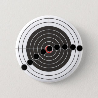 Machine gun bullet holes over shooting target button