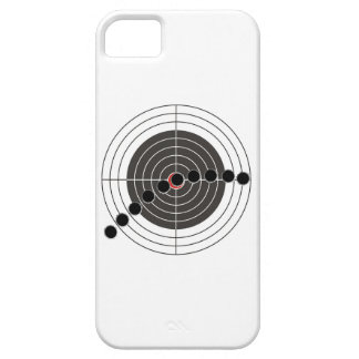 Machine gun bullet holes over shooting target iPhone 5 case