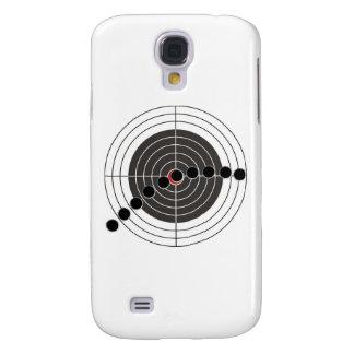 Machine gun bullet holes over shooting target galaxy s4 case