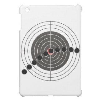 Machine gun bullet holes over shooting target iPad mini covers
