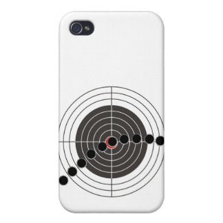 Machine gun bullet holes over shooting target iPhone 4/4S case