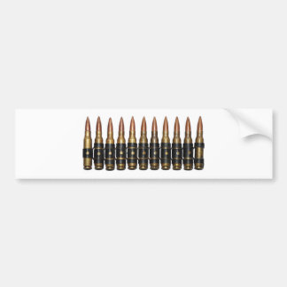 Machine Gun Bullets Bumper Sticker