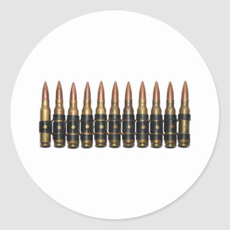 Machine Gun Bullets Sticker