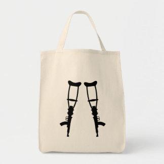 Machine Gun Crutches - End War Peace Canvas Bag
