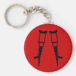 Machine Gun Crutches - End War Peace Key Chains