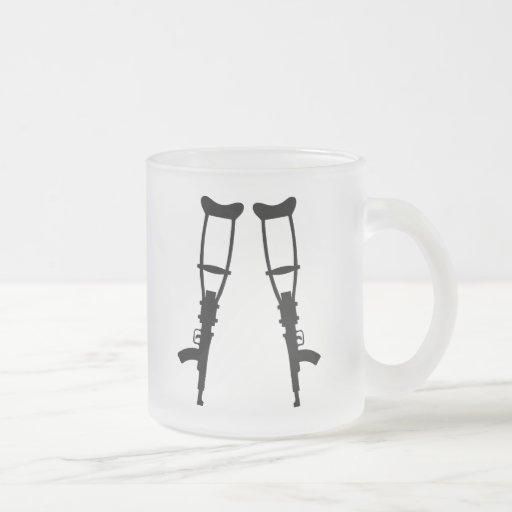 Machine Gun Crutches - End War Peace Mugs