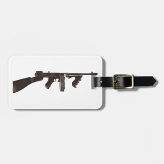 Machine Gun Luggage Tag