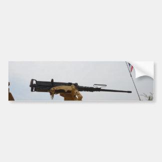Machine Gun On Personnel Carrier Bumper Sticker