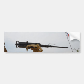 Machine Gun On Personnel Carrier Car Bumper Sticker