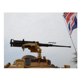 Machine Gun On Personnel Carrier Postcard
