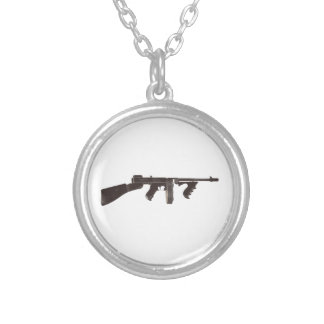 Machine Gun Silver Plated Necklace